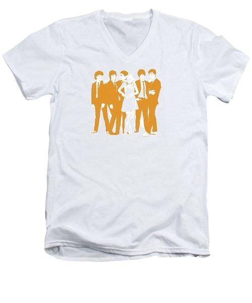 Goldie Men's V-Neck T-Shirt by Kurt Ramschissel