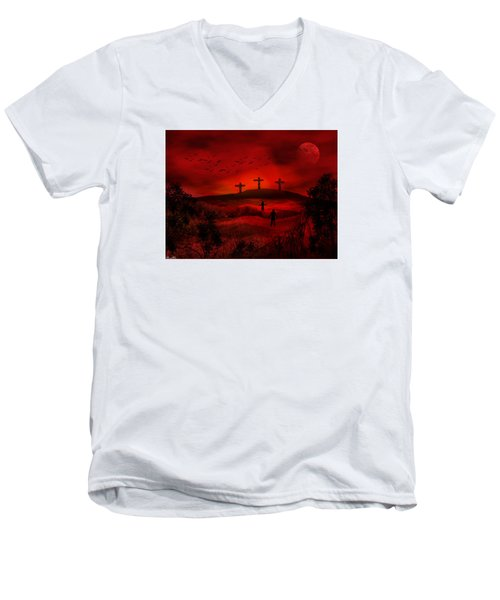 Golgotha Men's V-Neck T-Shirt