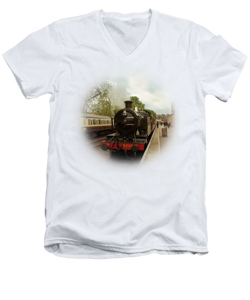 Goliath The Engine And Anna On Transparent Background Men's V-Neck T-Shirt by Terri Waters