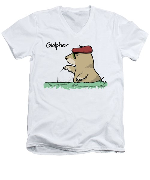 Golpher Men's V-Neck T-Shirt
