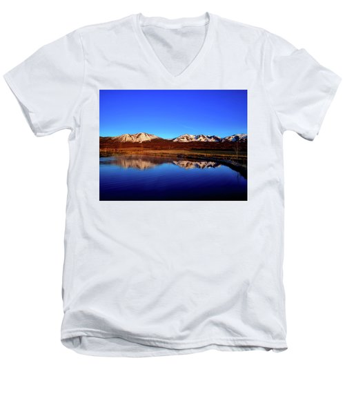 Good Morning Colorado Men's V-Neck T-Shirt by L O C