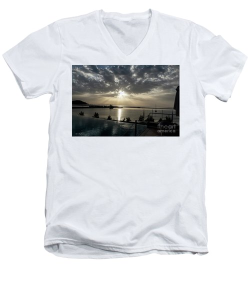 Men's V-Neck T-Shirt featuring the photograph Good Morning Vacation by Arik Baltinester