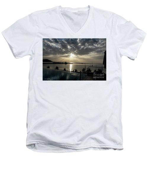 Good Morning Vacation Men's V-Neck T-Shirt by Arik Baltinester