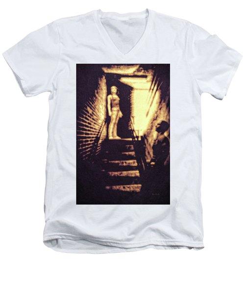 Good Neighbors  Men's V-Neck T-Shirt by Bob Orsillo
