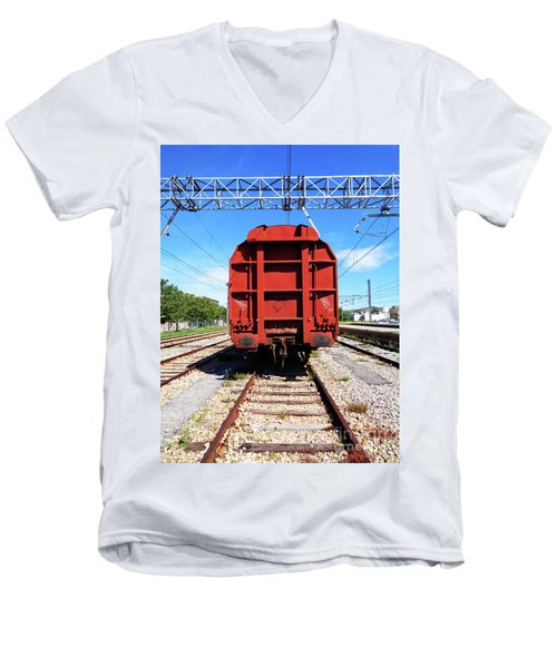 Goods Wagon Men's V-Neck T-Shirt by Don Pedro De Gracia