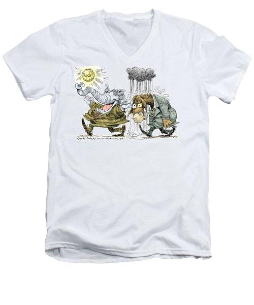 Gop Glee And Dem Doom Men's V-Neck T-Shirt