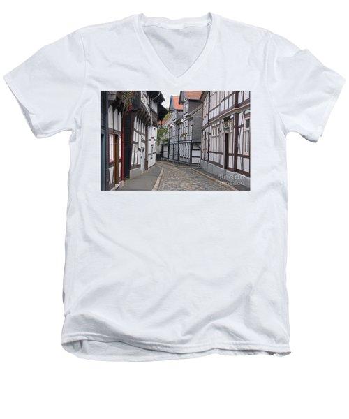 Goslar Old Town 3 Men's V-Neck T-Shirt by Rudi Prott