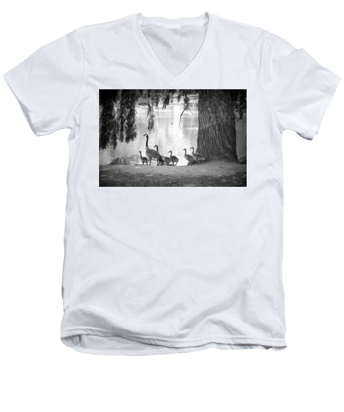 Goslings Bw7 Men's V-Neck T-Shirt by Clarice Lakota