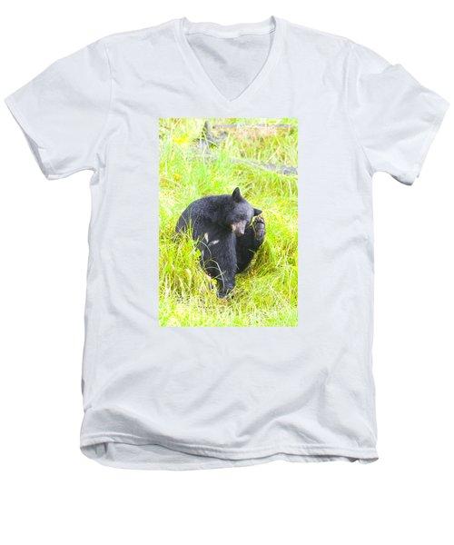 Got An Itch Men's V-Neck T-Shirt by Harold Piskiel