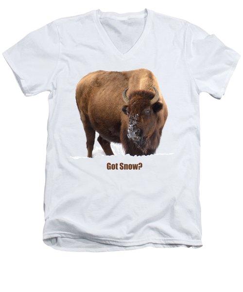 Got Snow? Men's V-Neck T-Shirt by Greg Norrell