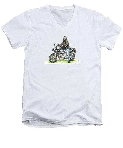 Got To Ride Men's V-Neck T-Shirt by Shari Nees