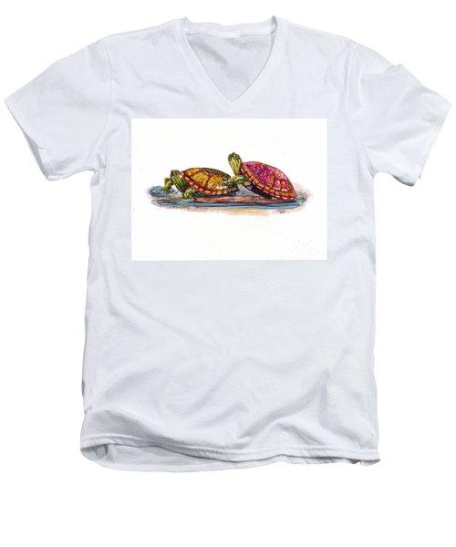 Spring Turtles Men's V-Neck T-Shirt