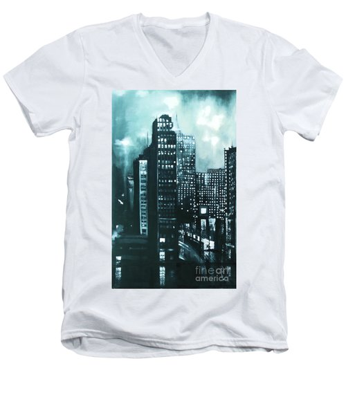 Gotham Painting Men's V-Neck T-Shirt