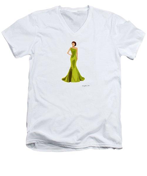 Men's V-Neck T-Shirt featuring the digital art Grace by Nancy Levan