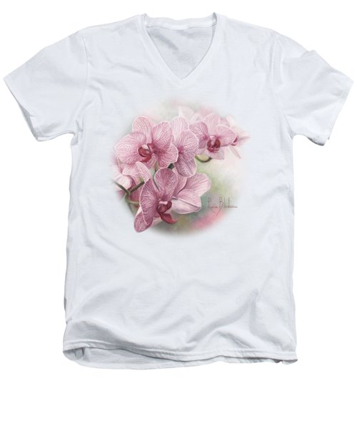 Graceful Orchids Men's V-Neck T-Shirt