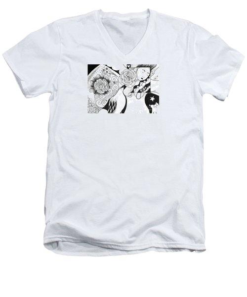 Gracefully Men's V-Neck T-Shirt by Helena Tiainen