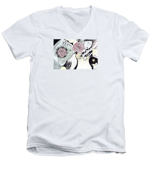 Gracefully - In Color Men's V-Neck T-Shirt by Helena Tiainen