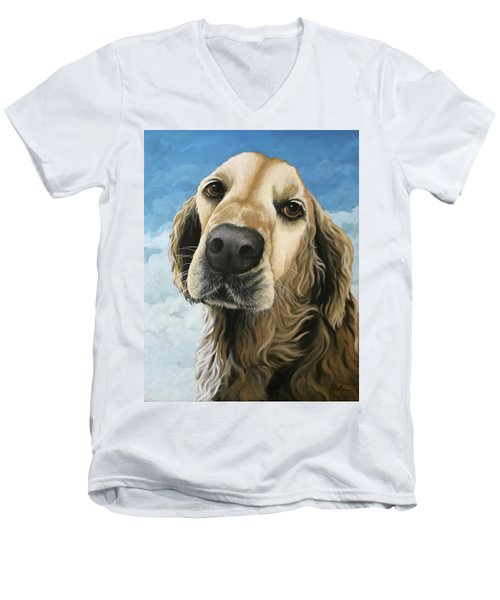 Gracie - Golden Retriever Dog Portrait Men's V-Neck T-Shirt