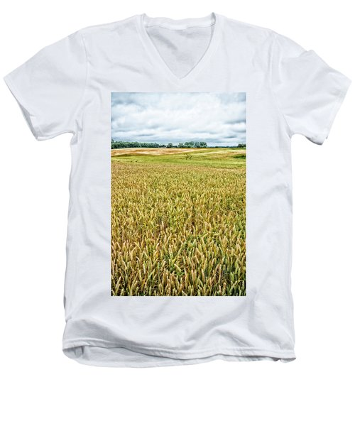 Grain Field Men's V-Neck T-Shirt by Hans Engbers
