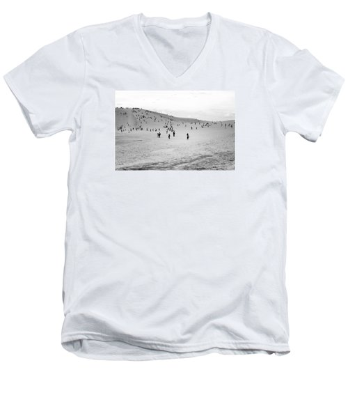 Men's V-Neck T-Shirt featuring the photograph Grains Of Sand by Hayato Matsumoto