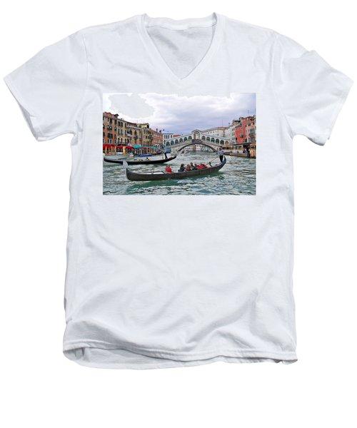 Grand Canal Scene  Men's V-Neck T-Shirt