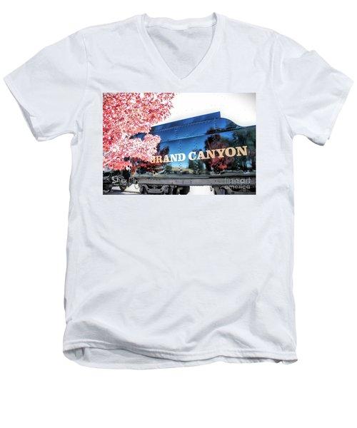 Grand Canyon Railroad Men's V-Neck T-Shirt