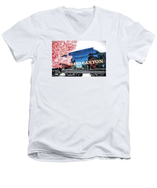 Grand Canyon Railroad Men's V-Neck T-Shirt