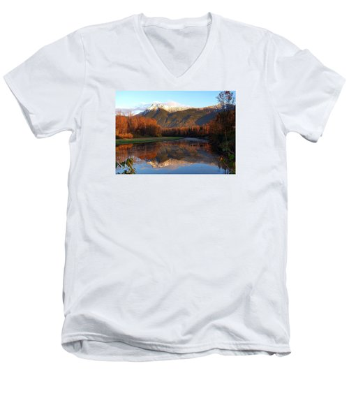 Mount Cheam, British Columbia Men's V-Neck T-Shirt by Heather Vopni