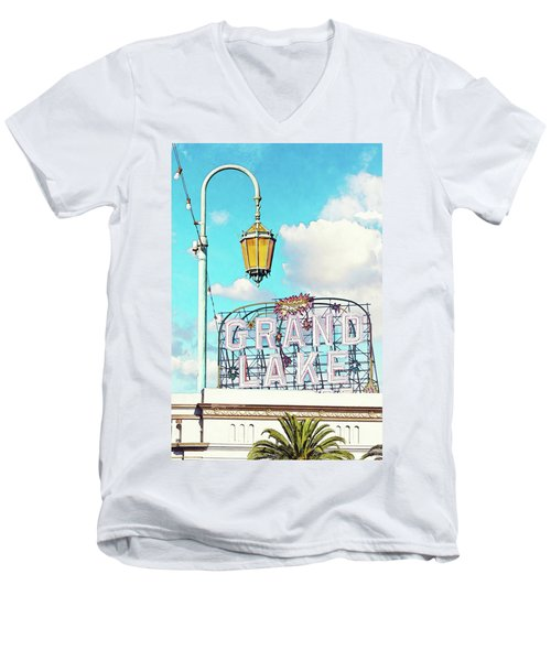 Grand Lake Merritt - Oakland, California Men's V-Neck T-Shirt