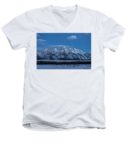 Grand Teton National Park Sunrise Men's V-Neck T-Shirt by Serge Skiba