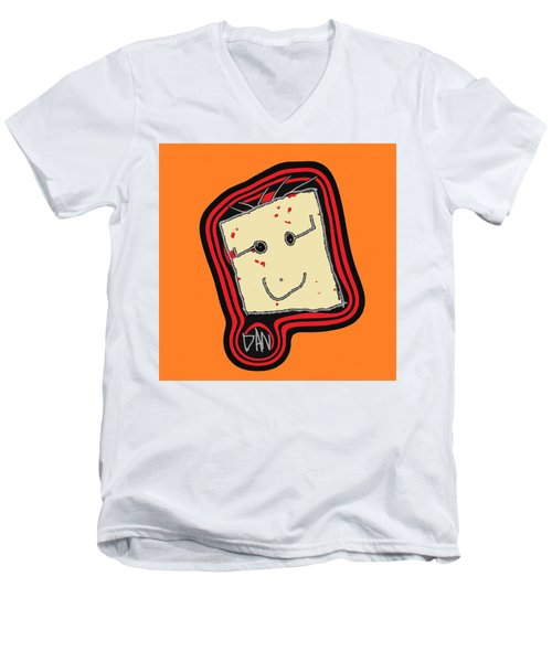 Men's V-Neck T-Shirt featuring the mixed media Grandpa 3 by Andrew Drozdowicz