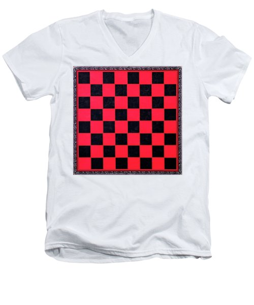 Grandpa's Checkerboard Men's V-Neck T-Shirt
