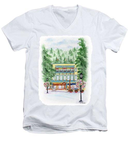 Granite On The Plaza Men's V-Neck T-Shirt