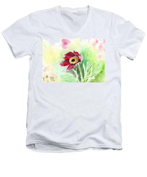 Granny Flower 2 Men's V-Neck T-Shirt