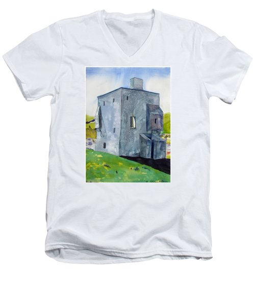 Granuaile's Castle Behind The Hill Men's V-Neck T-Shirt