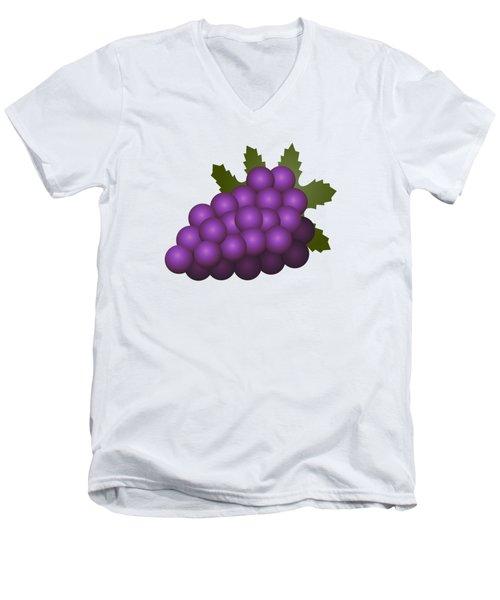 Grapes Fruit Men's V-Neck T-Shirt by Miroslav Nemecek