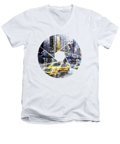 Graphic Art New York City Men's V-Neck T-Shirt