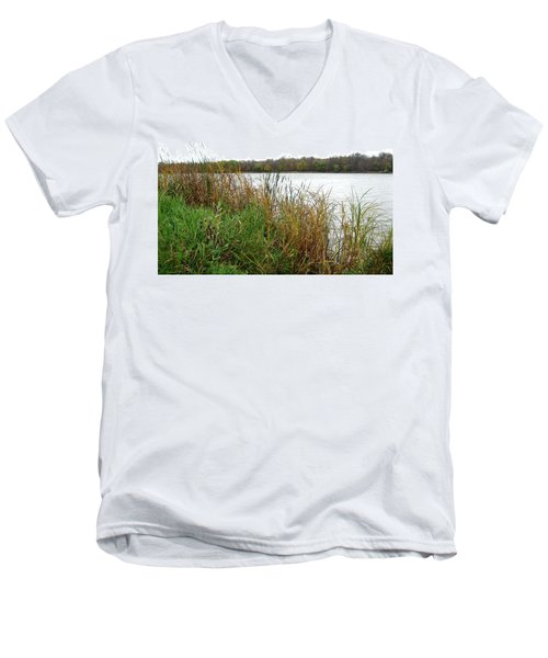 Grassy Bank Men's V-Neck T-Shirt