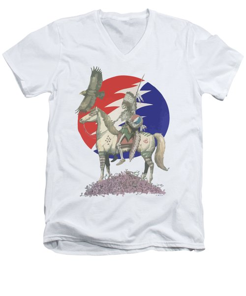 Grateful Dead Hero Men's V-Neck T-Shirt