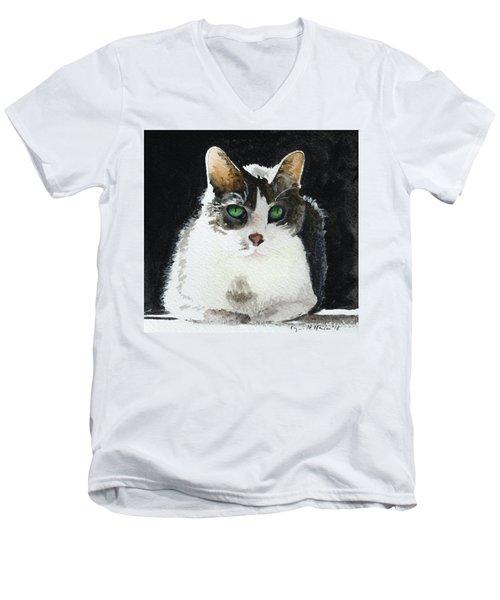 Gray Cat Men's V-Neck T-Shirt
