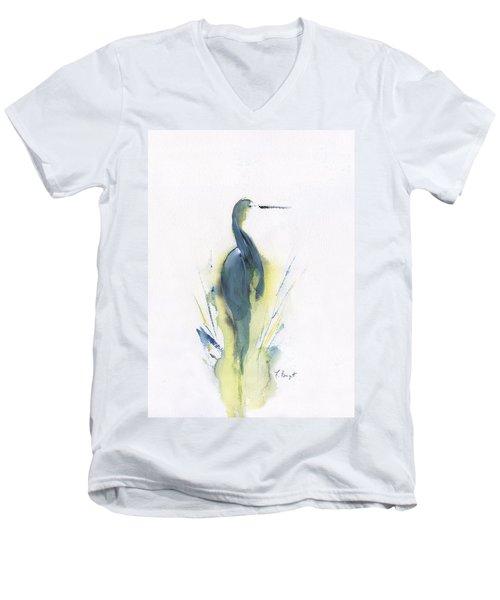 Blue Heron Turning Men's V-Neck T-Shirt