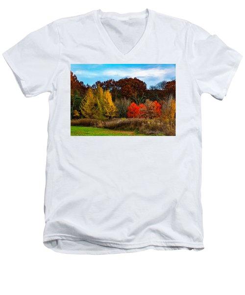 Great Brook Farm Autumn Men's V-Neck T-Shirt