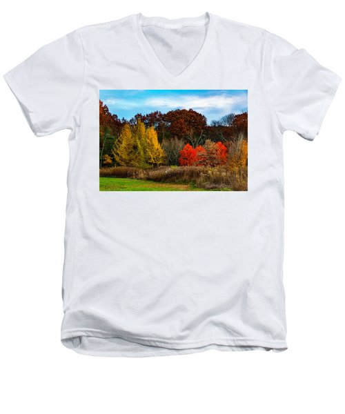 Great Brook Farm Autumn Men's V-Neck T-Shirt