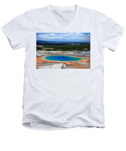 Great Prismatic Spring   Men's V-Neck T-Shirt