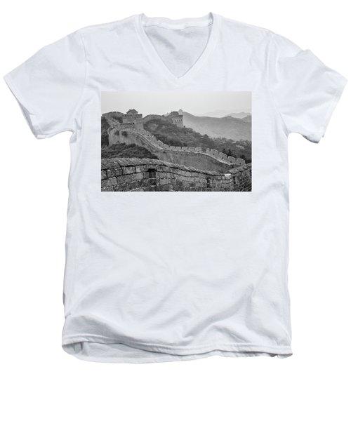 Great Wall 7, Jinshanling, 2016 Men's V-Neck T-Shirt