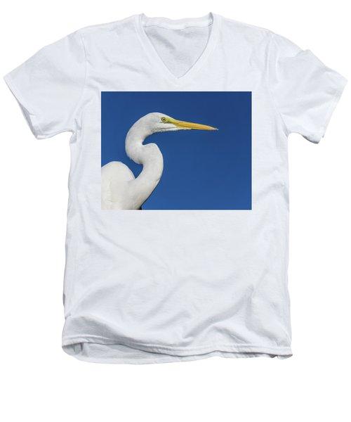 Great White Heron Men's V-Neck T-Shirt
