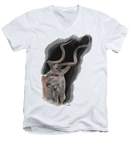 Greater Kudu Men's V-Neck T-Shirt