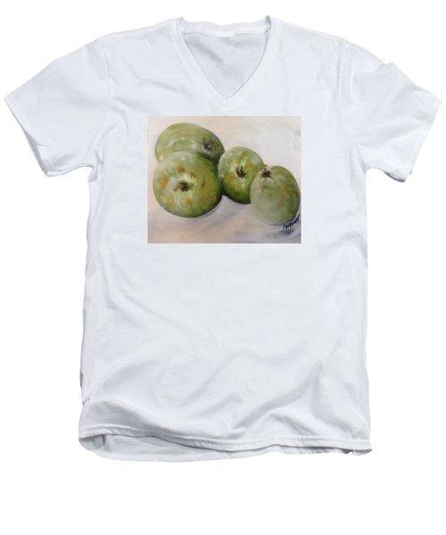 Green Apples Men's V-Neck T-Shirt