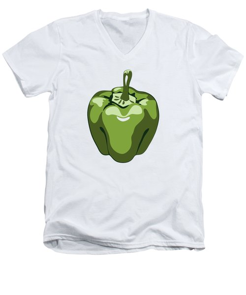 Green Bell Pepper Men's V-Neck T-Shirt
