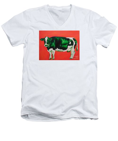 Green Cow Men's V-Neck T-Shirt